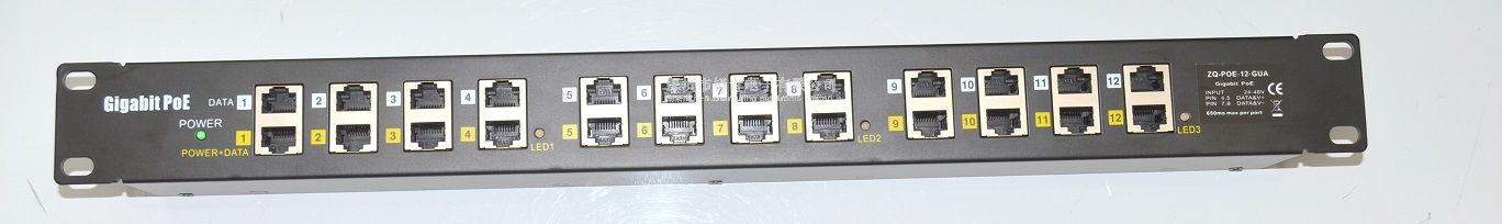 12port Gigabit poe injector